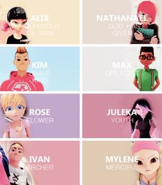 Alix, Nathanael, Kim, Max, Rose, Juleka, Ivan, and Mylene • Miraculous Ladybug