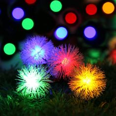 5m 20 Leds Bell Solar Led String Light Outdoor Decoration Fairy Lighting Steady+flash Mode For Garden,patio,fence,christmas Led Lighting