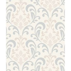 B&M: > Rasch Knightsbridge Neutral - Grey Damask Wallpaper - 293313