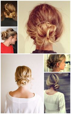 Cute messy bun when you dont feel like doing your hair!