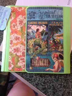 Tropical travelogue mini photo folio