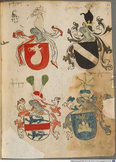 Tirol, Anton: Wappenbuch Süddeutschland, Ende 15. Jh. - 1540 Cod.icon. 310  Folio 57r