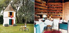 Amazing idea! Garden Library/Guest House!