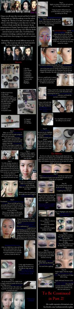 Asami Sato Makeup Tutorial Part One by ~the-sushi-monster on deviantART