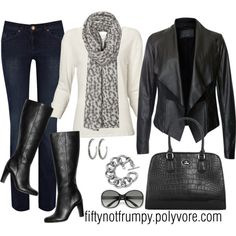 """""""Attitude!"""" by fiftynotfrumpy on Polyvore: That is a great look, lose 30 lbs and I could be in it!"""