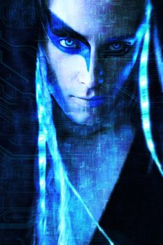 MD: Valery , 2015 #valerykovtun #anpiephotohaphy #scifi #fantasy #cyberart #cyborg #blue #beautiful #lights #neon #led #drone #longhairedguy #model