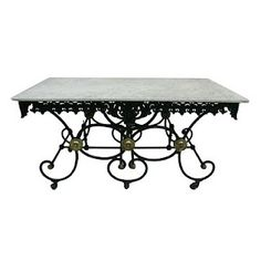 View This Item And Discover Similar Serving Tables For At Century French Butchers Table With Original Marble Also Pastry Bakers