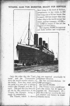 Titanic ready for service. Feb 26, 1912.... The Day Book
