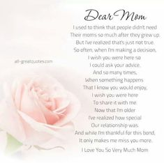 For my dear friends that have lost their moms. I'm thinking of you extra today.