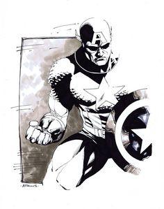Captain America by Robert Atkins
