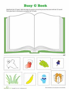 "Letter ""G"" Book Cut & Past Activity (from Education.com)"