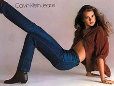 TBT brooke shields~so controversial back then I remember we (my friend and I) our Calvin Klein jeans when I was a teen! ,lol