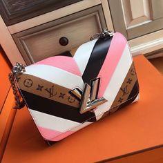 4e7d8657e77 Louis Vuitton White Pink Black and monogram Reverse Twist Bag Limited  Edition - Bella Vita Moda