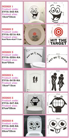 Home Decor | big mouth toilet stickers wall decorations – $ 0.97