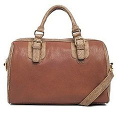 Top Stylist & Insider Pick! Our Contrast Satchel in Brown easily transitions from work to weekend - use your credit