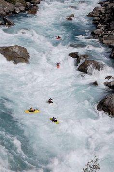 Nevis Bluff rapid on the Kawarau river
