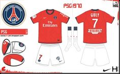 Paris St Germain home kit for 2010-11.
