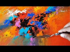"""Abstract painting / """"Celebration"""" / Merry Christmas / Colorful / Acrylics / Demonstration - YouTube"""