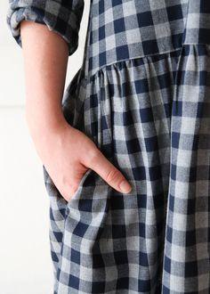 Primoeza Aster Gather Dress - Flannel Check