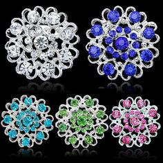 Women Silver Plated Rhinestone Crystal Brooch     FREE Shipping Worldwide     http://fashjewels.de/2016-hot-selling-rhinestone-crystal-brooch-hollow-out-collar-pin-silver-plated-flower-jewelry-gift-for-women-grils/