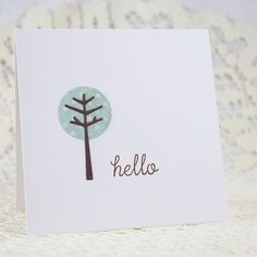 Another one...made this into a set of 4 note cards available in the shop.  www.endlessinkhandmade.etsy.com. #tinytrees #memorybox #reverseconfetti