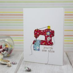 Pretty simple card to make for a sister sewist!!