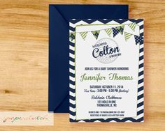 Perfect invite for a boy sprinkle or baby shower. This could even work for a gender neutral shower.  By purchasing this design you are purchasing