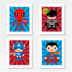 Superhero Nursery Art, Superhero Wall Art, Superhero Prints, Baby Boy Nursery Decor, Marvel Wall Art, Geek Baby Decor, New Baby Boy Gift by PerfectLittlePrints on Etsy https://www.etsy.com/uk/listing/470506757/superhero-nursery-art-superhero-wall-art