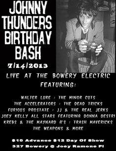 Johnny Thunders Birthday Bash 2013