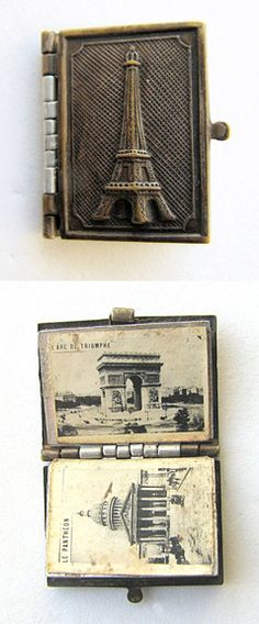 Charming Paris Souvenir Miniature Album Book of Landmarks...