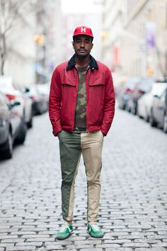 Fun with camo and camo-colored color-blocking. (via The NYC Streets Photo Blog by Melodie Jeng)