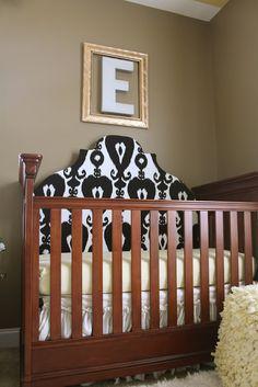 Dwellings By DeVore: Updated Crib Headboard Tutorial Crib Makeover, Framed Initials, Nursery Inspiration, Nursery Ideas, Room Ideas, Decor Ideas, Craft Ideas, Diy Crib, Big Girl Rooms