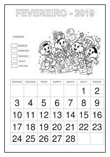 Calendário 2019 - Turma da Mônica Classroom Setup, Education, Planner, Abc Centers, Letter G, Cursive, Note Cards, Classroom, Egg
