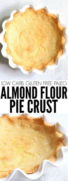 This Almond Flour Pie Crust will be a staple in your home this holiday season! Only four ingredients, low carb, gluten free, and paleo! thetoastedpinenut.com #lowcarb #glutenfree #paleo