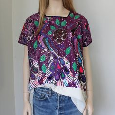 Chiapas Mexico embroidered huipil / art piece / bohemian summer top  / one of a kind