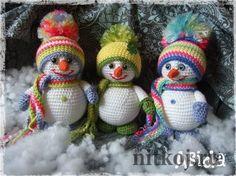 Снеговички крючком от Asida