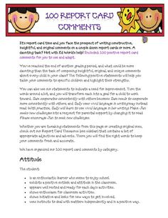 100 Report Card Comments.pdf