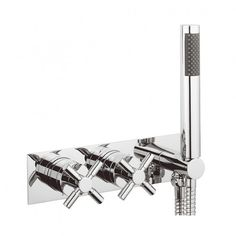 Totti thermostatic shower valve with handset in Totti | Luxury bathrooms UK, Crosswater Holdings
