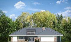 Projekt domu Wyjątkowy 2 - 201.09 m2 - koszt budowy 361 tys. zł Home Fashion, Planer, Bungalow, House Plans, Garage Doors, Shed, Outdoor Structures, Cabin, Contemporary