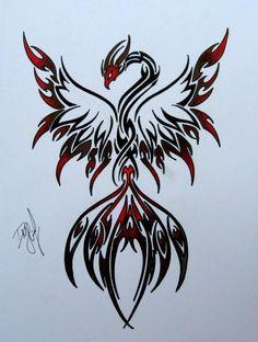 phoenix tribal tattoos for women   Motive Tattoo Galleries: Phoenix Tattoo Design