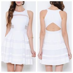The perfect white dress! Perfect for a Bridal shower, bachelorette party or any event! Come and get it brides!