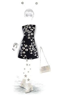 """""""1960s Dress - Fun!"""" by joy2thahworld ❤ liked on Polyvore featuring Christian Louboutin, Hostess, Marc Jacobs, Wildfox, Alinka, rockerchic, 1960s and rockerstyle"""