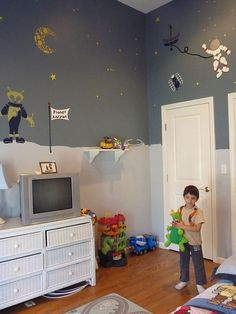 Space Wall Stencils for Kids Room Wall Mural by MyWallStencils, $99.99