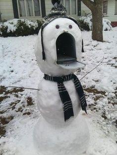 snowman mailbox..