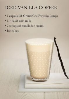 This summer, cool off with a glass of this delicious Iced Vanilla Coffee. The spicy notes of Nespresso Espresso and vanilla combine to create an indulgent treat to share with friends on any occasion!