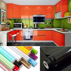 paint waterproof decorative film self adhesive wallpaper roll for kitchen furniture sticker home decoration accessorie Cheap Furniture, Kitchen Furniture, Kitchen Decor, Kitchen Design, Furniture Stores, Bedroom Furniture, 3d Flooring, Kitchen Flooring, Self Adhesive Wallpaper