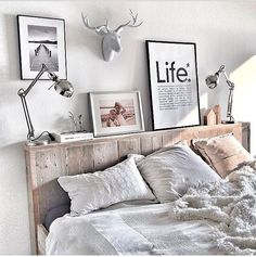 Sweet dreams✨Lovely bedroom by Linen Bedroom, White Bedroom, Bedroom Decor, Country House Interior, Hygge Home, Aesthetic Rooms, My Room, Home Decor, Furniture