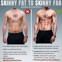 This is a pretty common issue with a lot of folks wanting to get in better shape although they are stuck in this limbo of whether to bulk u. Skinny Fat Man, Skinny Fat Workout, Lose Fat Workout, Workout Days, Skinny Guys, Belly Fat Workout, Core Workouts, Training Workouts, Weight Training