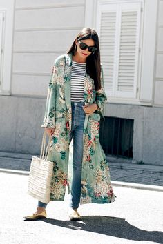 A Casual Cool Take on the Kimono Jacket Trend