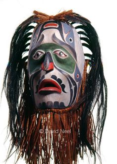 Mourning Mask for Dave Neel Senior, Northwest Native American by David Neel